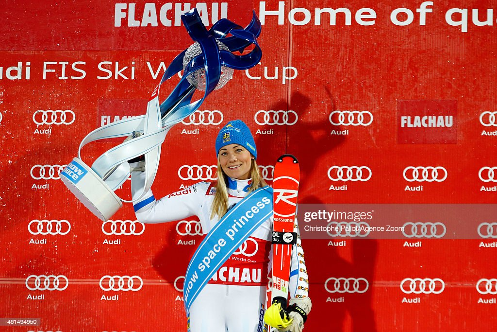 <a gi-track='captionPersonalityLinkClicked' href=/galleries/search?phrase=Frida+Hansdotter&family=editorial&specificpeople=4140483 ng-click='$event.stopPropagation()'>Frida Hansdotter</a> of Sweden takes 1st place during the Audi FIS Alpine Ski World Cup Women's Slalom on January 13, 2015 in Flachau, Austria.