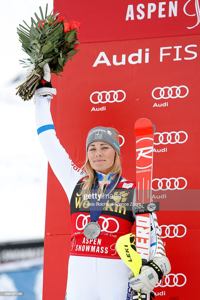 <a gi-track='captionPersonalityLinkClicked' href=/galleries/search?phrase=Frida+Hansdotter&family=editorial&specificpeople=4140483 ng-click='$event.stopPropagation()'>Frida Hansdotter</a> of Sweden takes the 2 nd place during the Audi FIS Alpine Ski World Cup Women's Slalom on November 30, 2014 in Aspen, Colorado.
