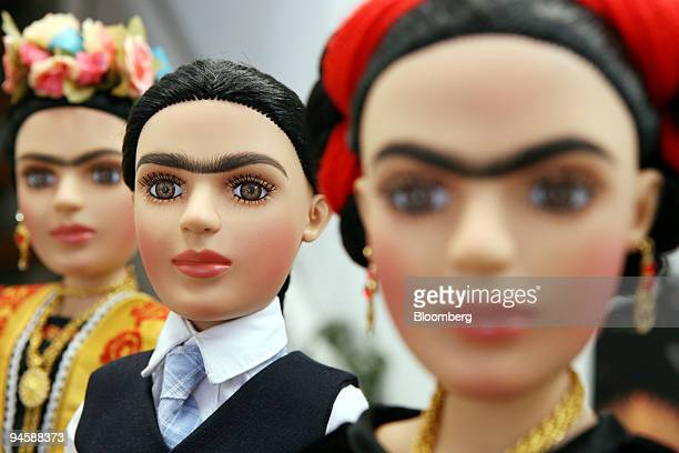 Frida Kahlo dolls are ready for packaging at a production company in Mexico City Mexico on May 18 2007 In July Mexico will celebrate what would be...