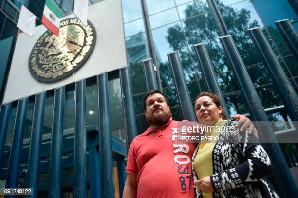Frida Urtiz and Franco Urtiz the wife and brotherinlaw respectively of Salvador Adame Pardo a reporter who disappeared on May 18 in the state of...