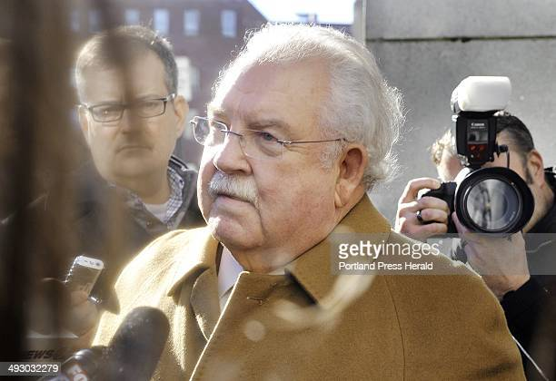 Friday January 18 2013 Defense attorney Dan Lilley speaks to the media outside of Cumberland County Court following a hearing