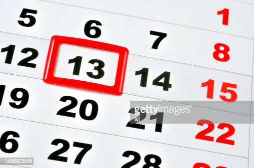 Friday the 13th : Stock Photo