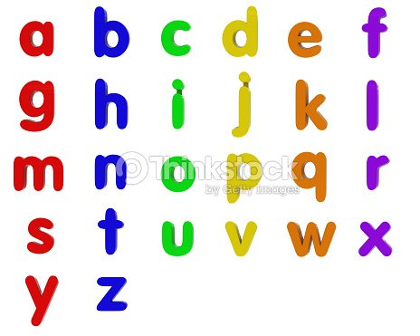 Fridge Magnet Lowercase Alphabet Stock Photo