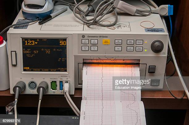 Fridley Minnesota Unity hospital Fetal monitor The monitor is checking the maternal vital signs of a woman getting ready to have a baby