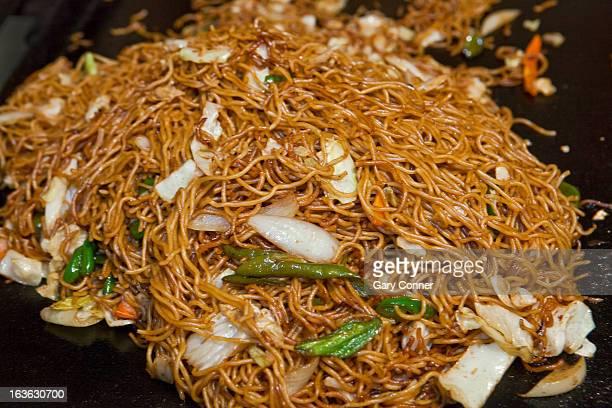 Fried buckwheat noodles mixture