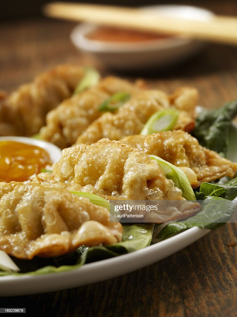 Fried Dumplings : Stock Photo