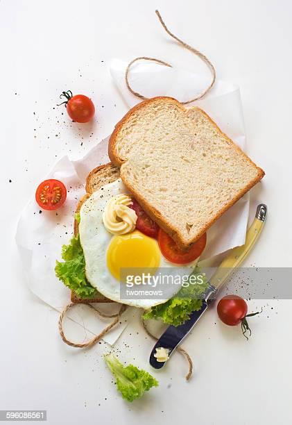 Fried egg open sandwich.