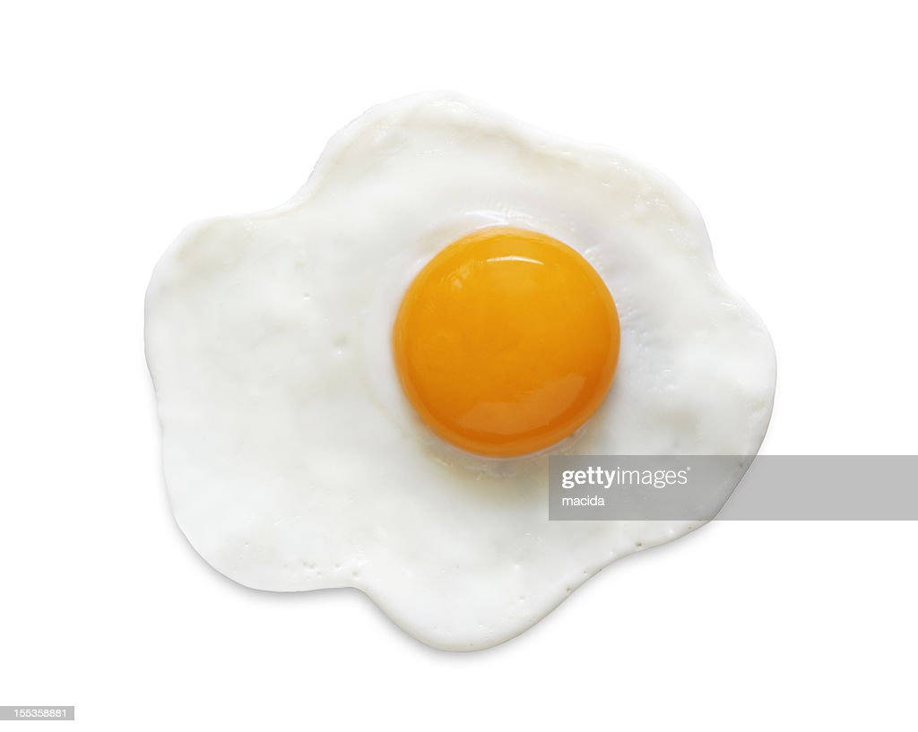 Fried Egg (clipping path) : Stock Photo
