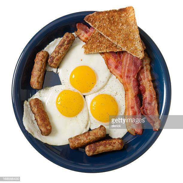 Fried Egg Sunny Side Up with Meat