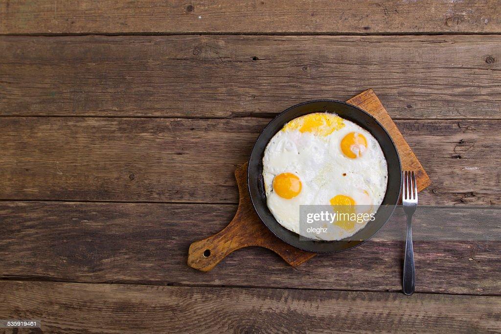 Fried eggs : Stock Photo