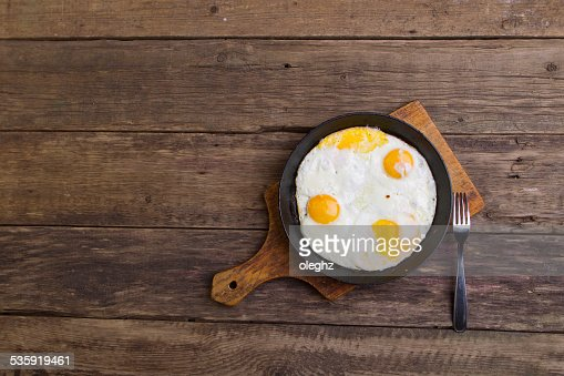 Fried eggs : Stock Photo