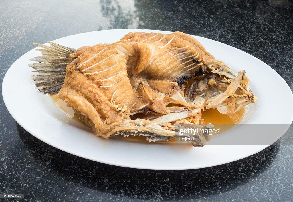 Pescado frito  : Foto de stock
