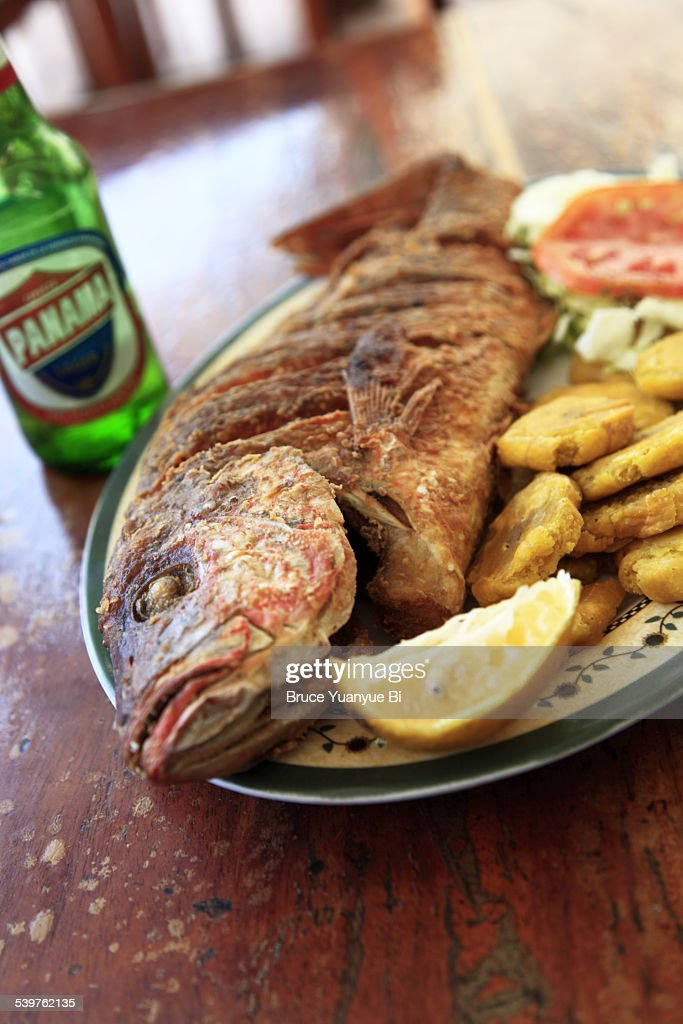 Fried fish served in a local restaurant stock photo for Fried fish restaurant