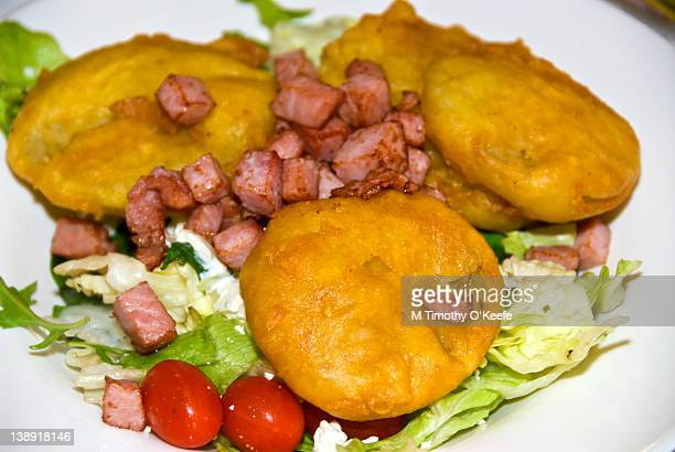 Fried green tomato salad