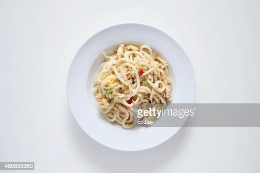 Fried Japanese Udon : Stock Photo