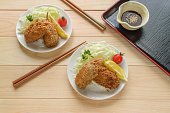 Kaki Furai (Deep ฺBreaded Fried Oyster) is a popular dish in Japan during winter.