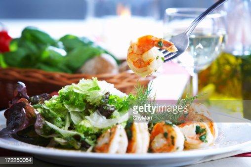 Fried Prawns : Stock Photo