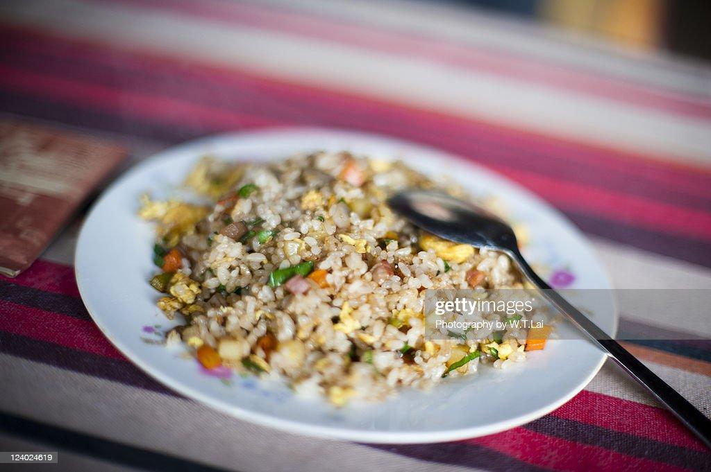 Fried rice in Lijiang : Stock Photo