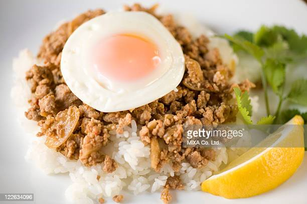 Fried rice with basil