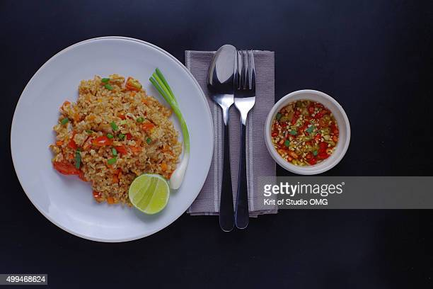 Fried rice with spicy sauce