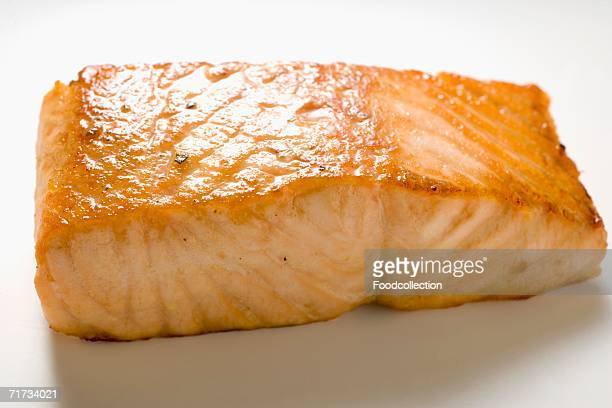 Fried salmon fillet