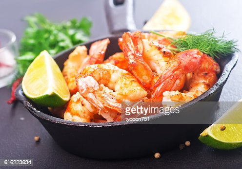 Gebratene shrimps  : Stock-Foto