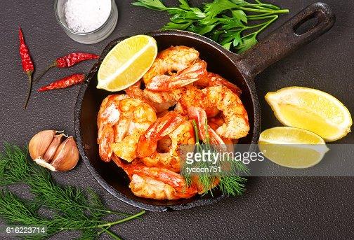 Crevettes sautées  : Photo