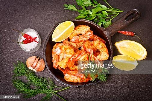 fried shrimps : Stock Photo