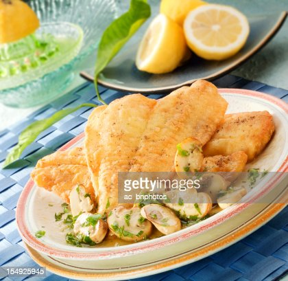 Fried sole fillets