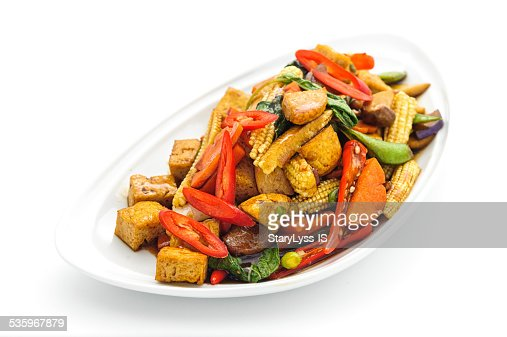 Fried vegetables Thai style : Stock Photo