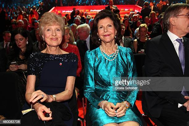Friede Springer and Queen Silvia of Sweden attend the Ein Herz fuer Kinder Gala 2014 at Tempelhof Airport on December 6 2014 in Berlin Germany
