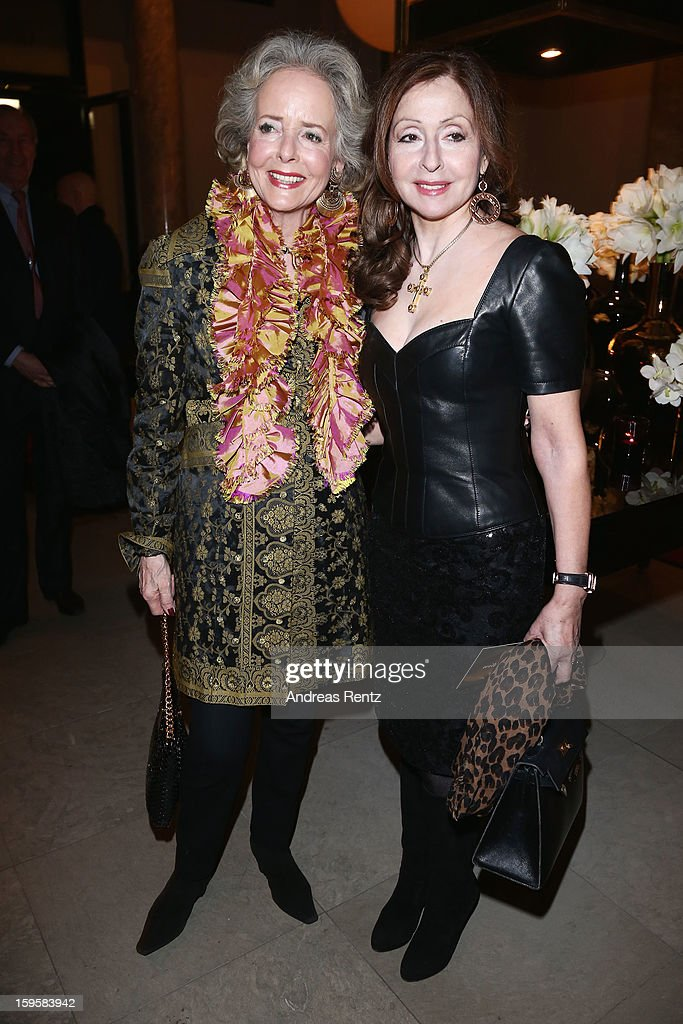 Friede Springer and Vicky Leandros attend Basler Autumn/Winter 2013/14 fashion show during Mercedes-Benz Fashion Week Berlin at Hotel De Rome on January 16, 2013 in Berlin, Germany.