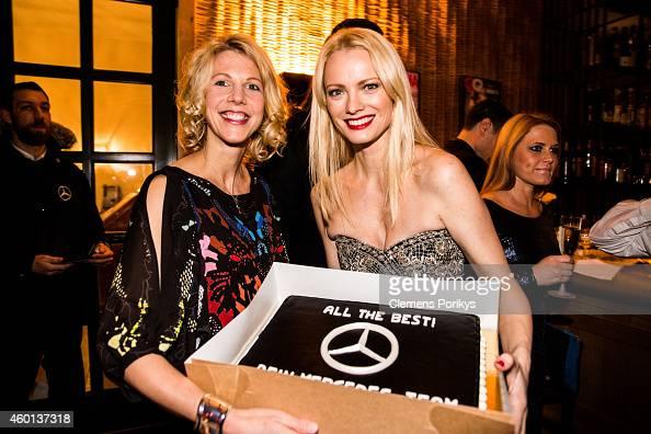Friederike Balck and Franziska Knuppe attend the 40th birthday party of Franziska Knuppe on December 06 2014 in Berlin Germany