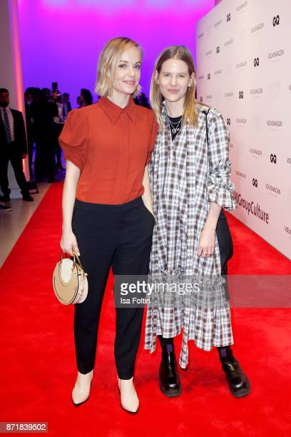Friederike Kempter and Aino Laberenz attend the Volkswagen Dinner Night prior to the GQ Men of the Year Award 2017 on November 8 2017 in Berlin...