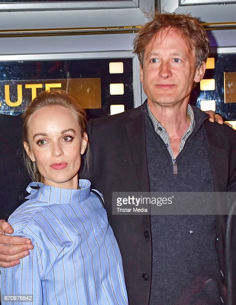 Friederike Kempter and Jan Henrik Stahlberg attend the family and friends screening of the film 'Einsamkeit und Sex und Mitleid' on April 20 2017 in...