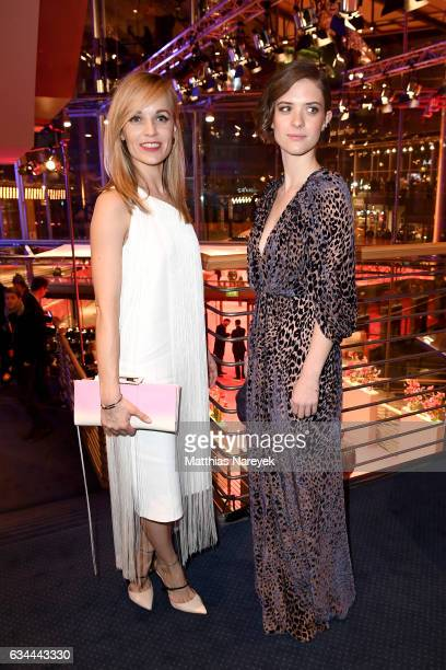 Friederike Kempter and Liv Lisa Fries attend the opening party during the 67th Berlinale International Film Festival Berlin at Berlinale Palace on...