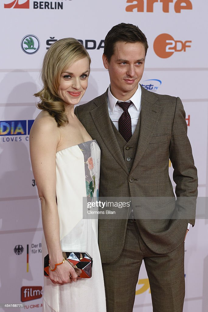 Friederike Kempter and Tom Schilling attend the European Film Awards 2013 on December 7, 2013 in Berlin, Germany.