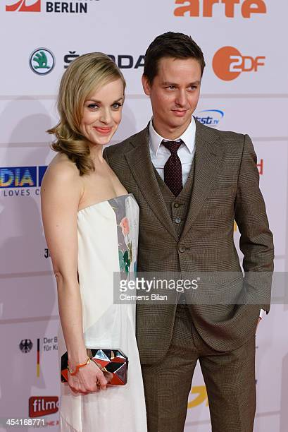 Friederike Kempter and Tom Schilling attend the European Film Awards 2013 on December 7 2013 in Berlin Germany