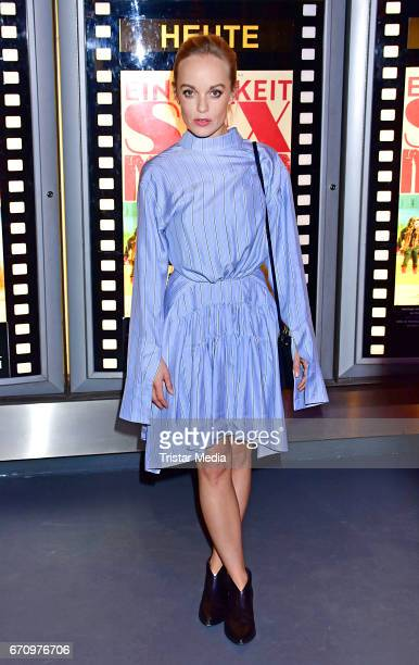 Friederike Kempter attends the family and friends screening of the film 'Einsamkeit und Sex und Mitleid' on April 20 2017 in Berlin Germany