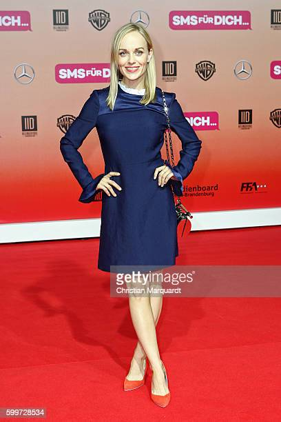 Friederike Kempter attends the German premiere of the film 'SMS fuer Dich' at CineStar on September 6 2016 in Berlin Germany