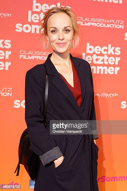 Friederike Kempter attends the premiere for the film 'Becks letzter Sommer' at Kino in der Kulturbrauerei on July 14 2015 in Berlin Germany