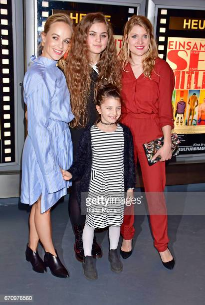 Friederike Kempter Lilly Wiedemann Lara Mandoki and Taliha Iman Celik attend the family and friends screening of the film 'Einsamkeit und Sex und...