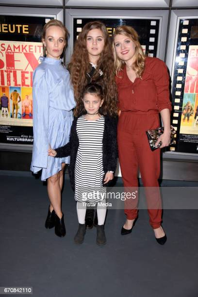 Friederike Kempter Lilly Wiedemann Taliha Iman Celik and Lara Mandoki attend the screening of the film 'Einsamkeit und Sex und Mitleid' on April 20...