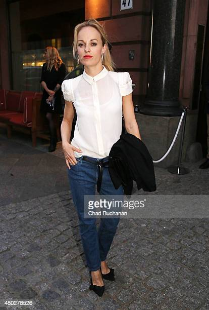 Friederike Kempter sighted arriving to Mercedes Benz Vogue Fashion Night at Borchardt's Restaurant on July 10 2015 in Berlin Germany