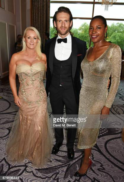Friederike Krum Craig McGinlay and Sonique attend The Asian Awards at Hilton Park Lane on May 5 2017 in London England
