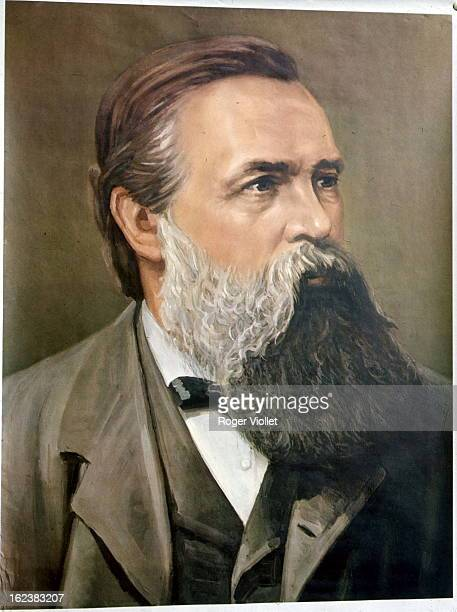 Friedrich Engels German politician theorist and socialist militant circa 1880 Chinese poster