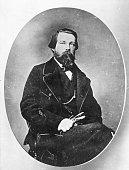 Friedrich Engels German socialist and cofounder of 'scientific socialism' with Karl Marx Original Artwork By Amsler Ruthardt
