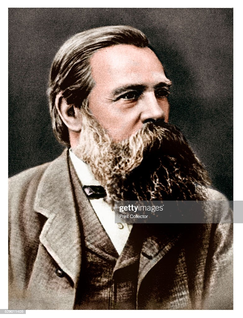 <a gi-track='captionPersonalityLinkClicked' href=/galleries/search?phrase=Friedrich+Engels&family=editorial&specificpeople=142606 ng-click='$event.stopPropagation()'>Friedrich Engels</a>, German socialist and collaborator and supporter of Karl Marx, 1879. Engels lived mainly in England from 1842. He co-operated with Marx on the writing of the Communist Manifesto (1848). (Colorised black and white print).