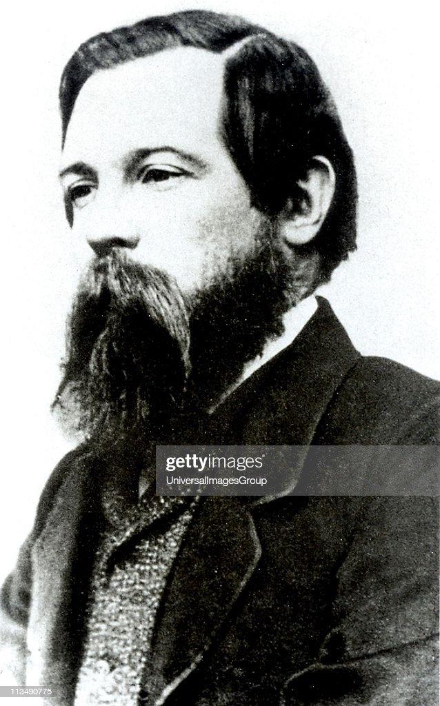 Friedrich Engels German socialist friend of Karl Marx and founder with him of Scientific Socialism Engels c1850