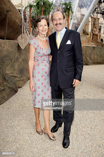 Friedrich 'Fritz' von Thurn und Taxis and wife Bea attend the Thurn and Taxis castle festival opening on July 17 2009 in Regensburg Germany
